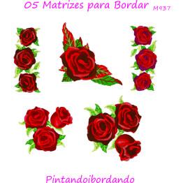 5 Matrizes para Bordar Rosas Lindas