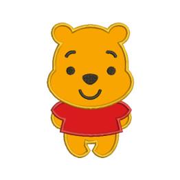 Matrizes de Bordar Aplique Mini ursinho Pooh