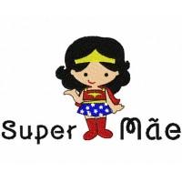 Matriz de Bordar Dia das Mães Super Mulher Maravilha