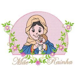 Matrizes de Bordar Mãe Rainha