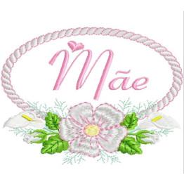 Matriz de Bordar Dia das Mães em Moldura