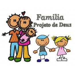 Matriz De Bordado Família Projeto de Deus