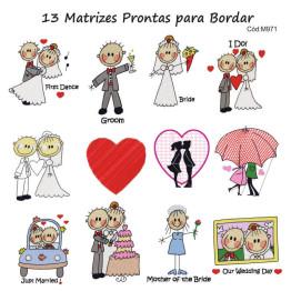 Matrizes de Bordado Casais de Namorados