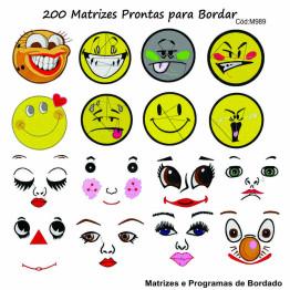 200 Matrizes Carinhas para Máscaras!