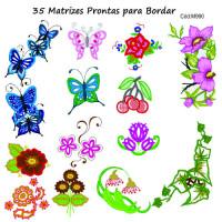 35 Matrizes Florais para Bordar