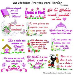 22 Matrizes de Bordar Frases Religiosas