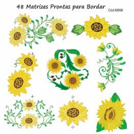 Matrizes De Bordar Flores Girassóis