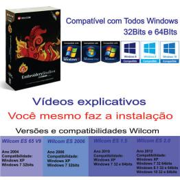 Wilcom E2 + Embird 2017 Portugues + 31 Mil Matrizes