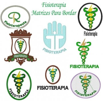 Matrizes De Bordado Fisioterapia - 8 Matrizes
