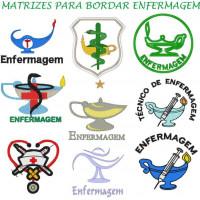 Matrizes De Bordado Enfermagem - 9 Matrizes
