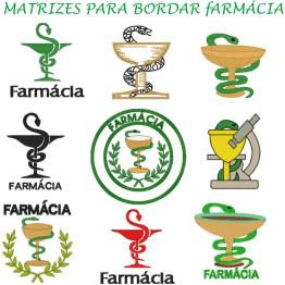 Matrizes De Bordado Fármacia - 9 Matrizes