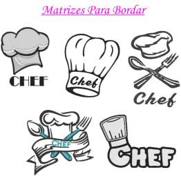 Matrizes De Bordado Chef De Cozinha