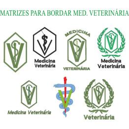 Matrizes De Bordado Medicina Veterinária - 9 Matrizes